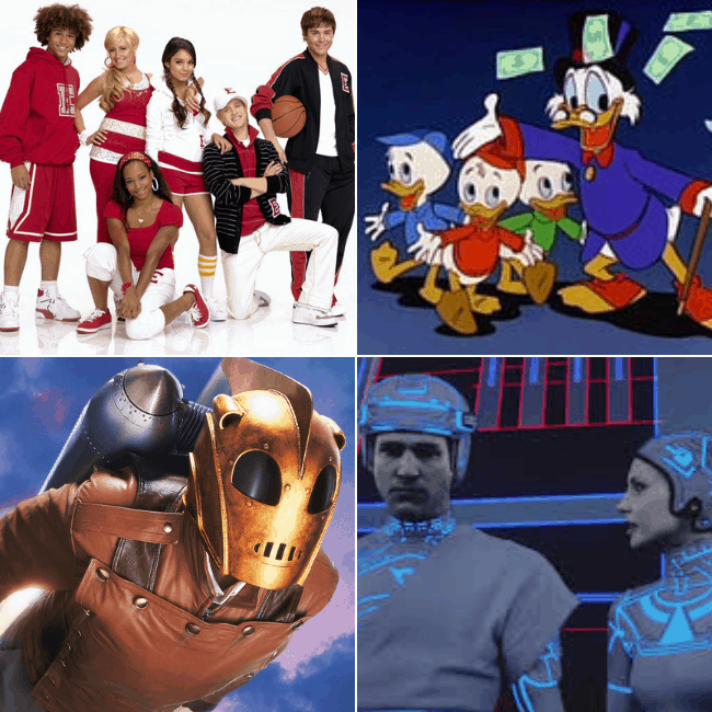 Disney Classics coming to Disney Plus streaming service including High School Musical, Duck Tales, The Rocketeer, Tron