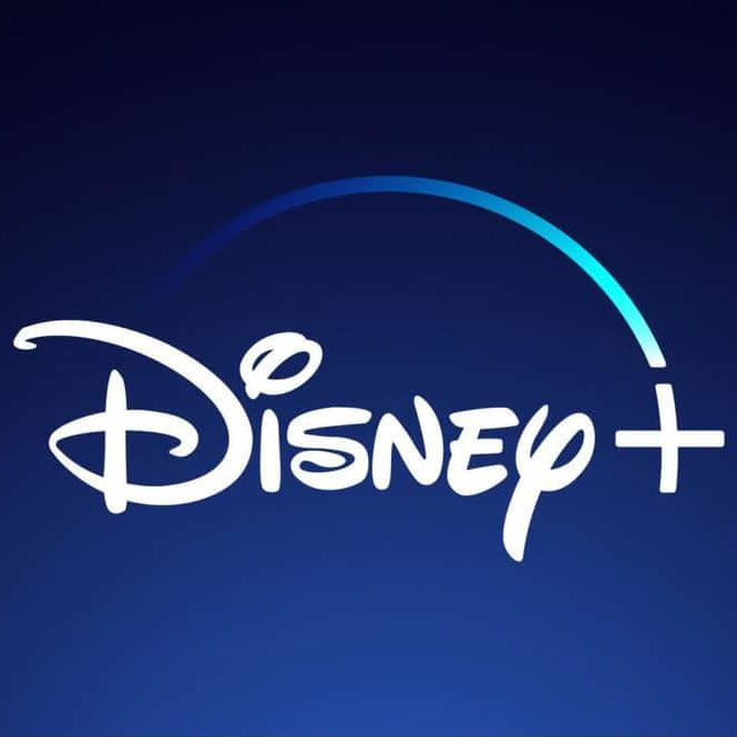 Disney plus logo for the Disney+ streaming service at d23 expo