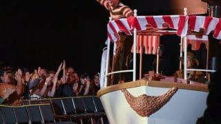 DWAYNE JOHNSON on jungle cruise boat at D23 Expo