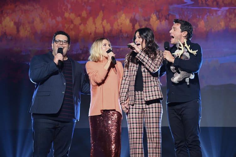 JOSH GAD, KRISTEN BELL, IDINA MENZEL, JONATHAN GROFF singing Frozen 2 at D23 Expo
