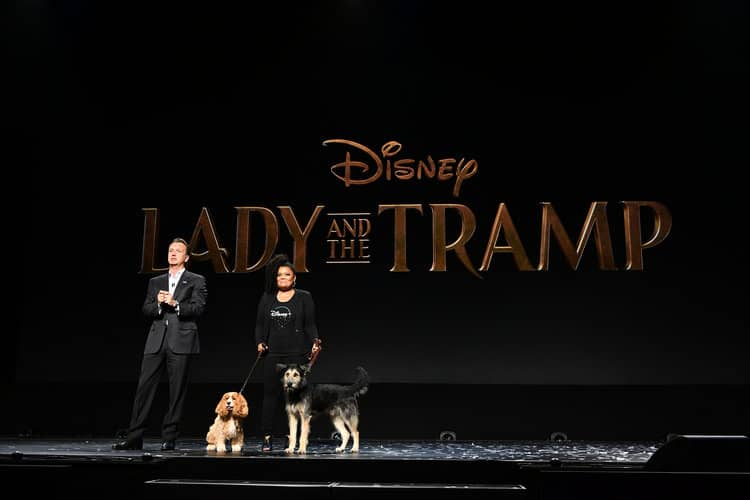 SEAN BAILEY (PRESIDENT, WALT DISNEY STUDIOS MOTION PICTURE PRODUCTIONS), YVETTE NICOLE BROWN d23 expo lady and the tramp