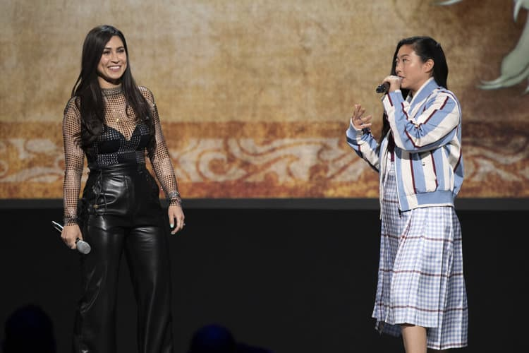 CASSIE STEELE, AWKWAFINA raya and the last dragon d23 expo
