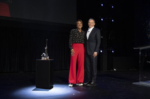 ROBIN ROBERTS, ROBERT A. IGER (CHAIRMAN AND CHIEF EXECUTIVE OFFICER, THE WALT DISNEY COMPANY) D23 Expo Legends Ceremony