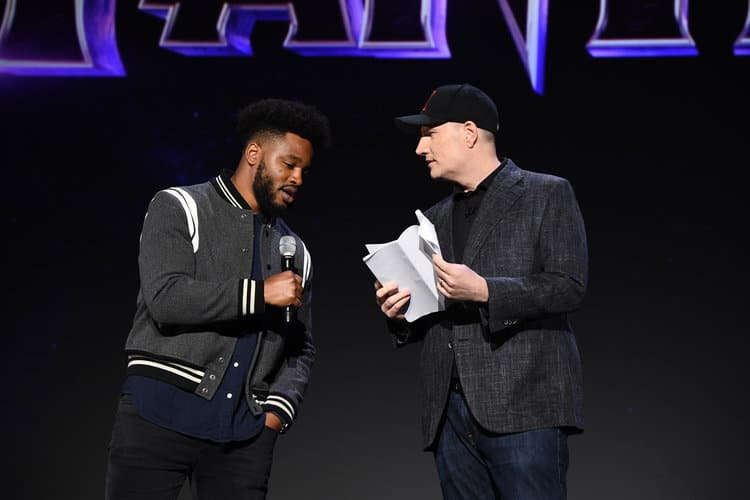 RYAN COOGLER, KEVIN FEIGE (PRESIDENT, MARVEL STUDIOS) D23 Expo Black Panther 2 announcement