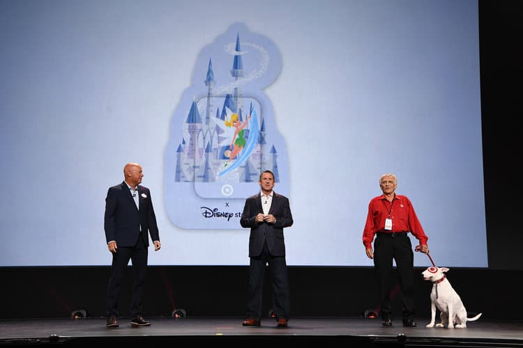 BOB CHAPEK (CHAIRMAN OF PARKS, EXPERIENCES AND PRODUCTS), BRIAN CORNELL (CEO, TARGET), BULLSEYE D23 Expo Parks announcements