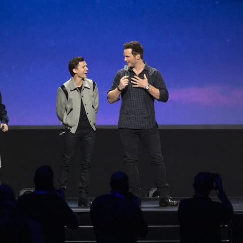 TOM HOLLAND, CHRIS PRATT, D23 Expo Pixar