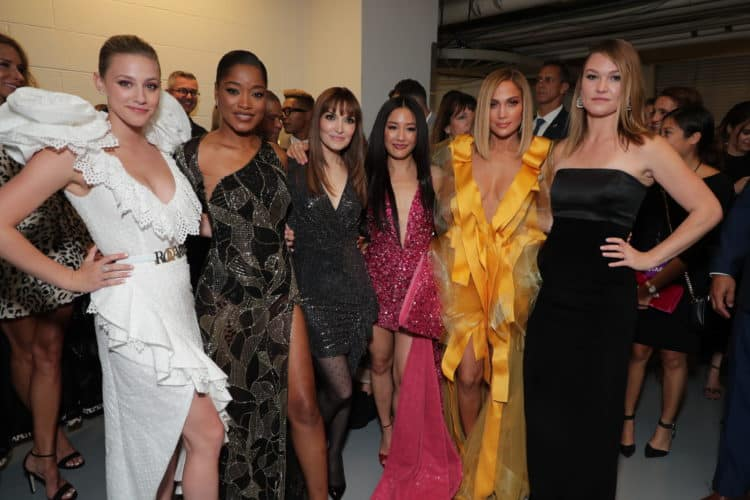 Lili Reinhart, Keke Palmer, Writer/Director Lorene Scafaria, Constance Wu, Jennifer Lopez, and Julia Stiles attend the Worldwide Premiere of HUSTLERS