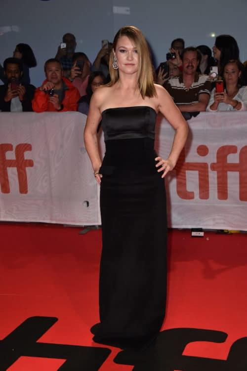 Julia Stiles attends the Worldwide Premiere of HUSTLERS during the 2019 Toronto International Film
