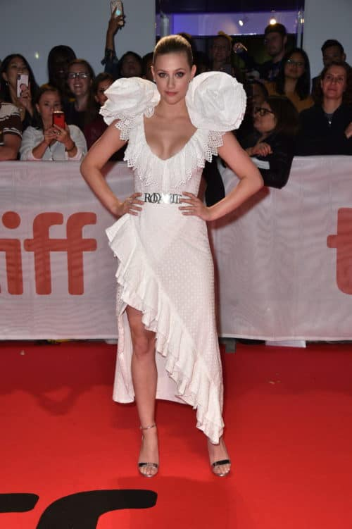 Lili Reinhart attends the Worldwide Premiere of HUSTLERS during the 2019 Toronto International Film Festival at Roy Thomson Hall