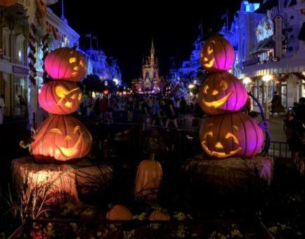 Walt Disney World Magic Kingdom Main Street Pumpkins at Halloween