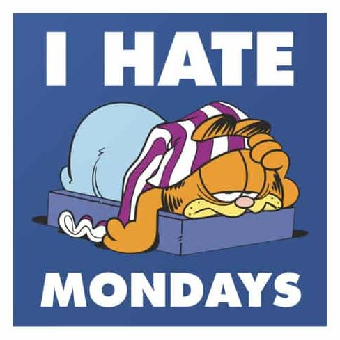 Garfield: I hate Mondays meme spoiler without context Zombieland Double Tap