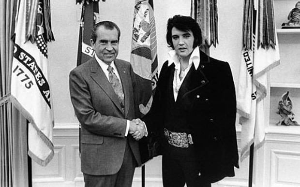 President Nixon meets Elvis Presely at the White House Zombieland Double Tap spoilers without context