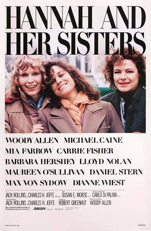 List of thanksgiving movies hannah and her sisters movie poster