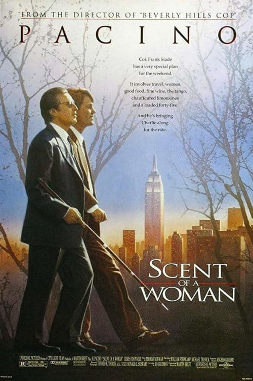 list of the best thanksgiving movies including Scent of a Woman movie poster