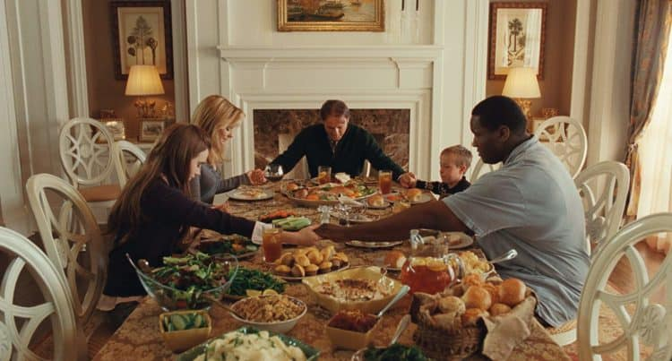 the blind side scene best thanksgiving movie list
