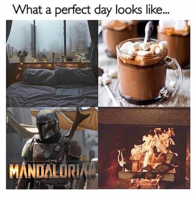 The Mandalorian perfect day disney plus meme