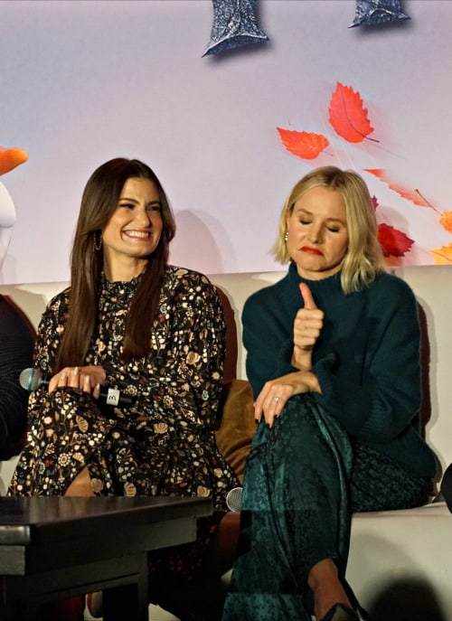 Kristen Bell and Idina Menzel Frozen 2 press conference