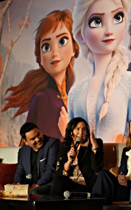 Robert Lopez and Kristen Anderson-Lopez at Frozen 2 press conference