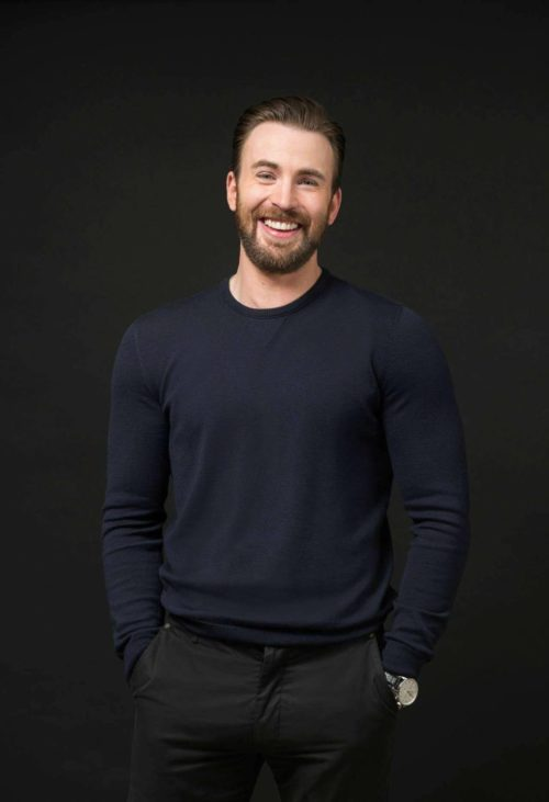 chris evans navy sweater