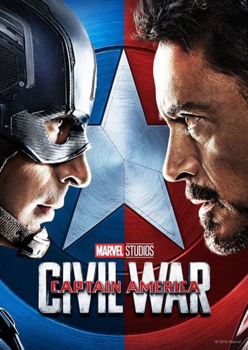 Captain America Civil War movie poster coming to Disney Plus day 1