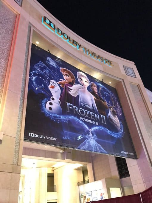 the dolby theater in hollywood frozen 2 red carpet and premiere
