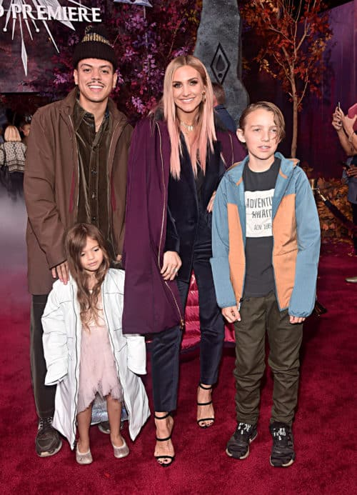 "World Premiere Of Disney's ""Frozen 2"" Evan Ross, Jagger Snow Ross, Ashlee Simpson, and Bronx Wentz"