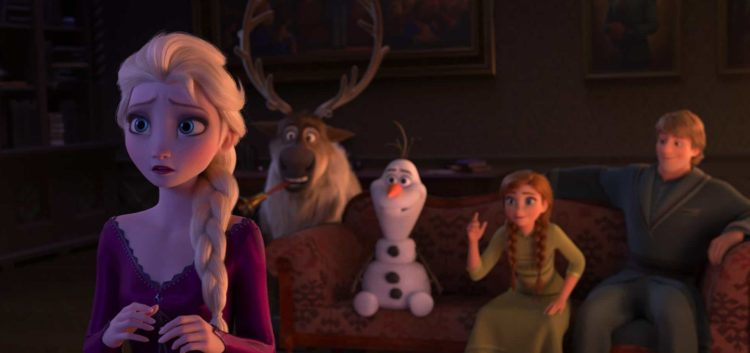 Elsa, Sven, Olaf, Anna and Kristoff in Frozen 2 parent movie review