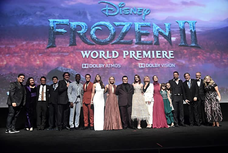 "World Premiere Of Disney's ""Frozen 2"" full cast of Frozen 2"