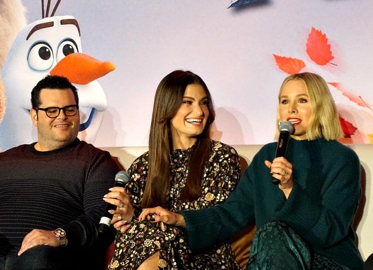 Josh Gad, Idina Menzel, Kristen Bell at Frozen 2 press conference