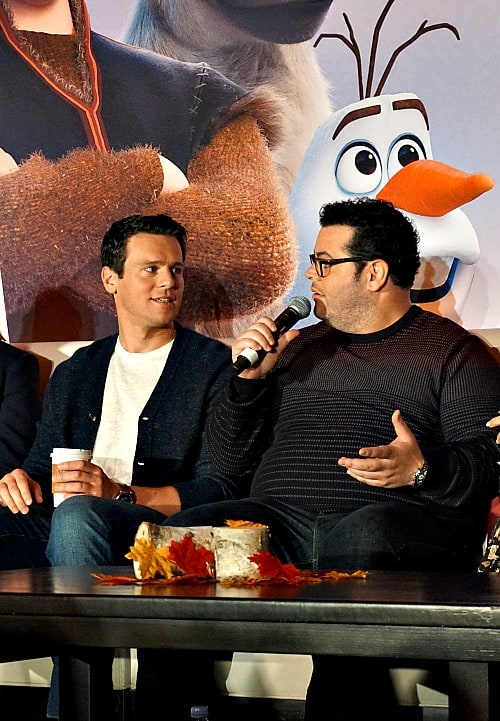 jonathan groff and josh gad at Frozen 2 press conference