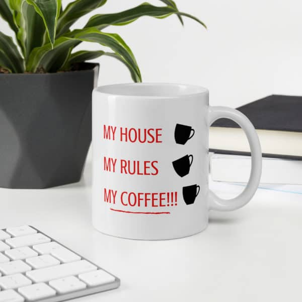 knives out my house my rules my coffee mug