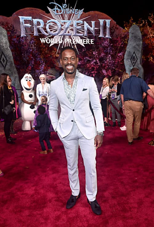 "Frozen 2 red carpet World Premiere Of Disney's ""Frozen 2"" Sterling K Brown"