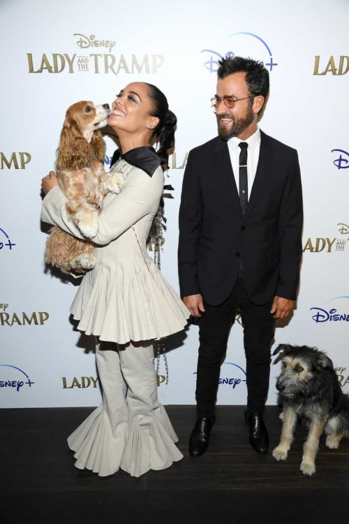 "Tessa Thompson, Justin Theroux and Monte attend as Cinema Society hosts a special screening of Disney+'s ""Lady And The Tramp"""