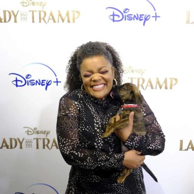 Lady and the Tramp premiere Yvette Nicole Brown and puppy