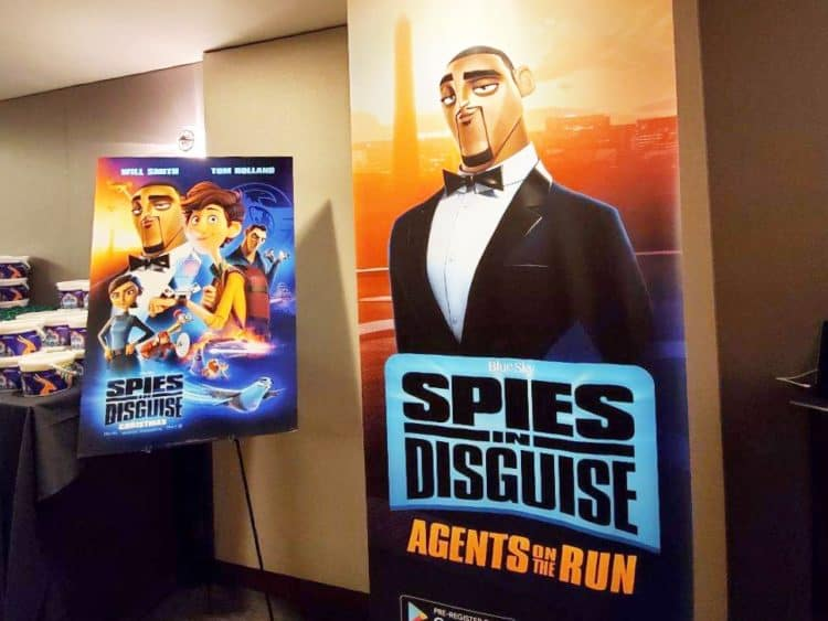 Spies in disguise agents on run poster