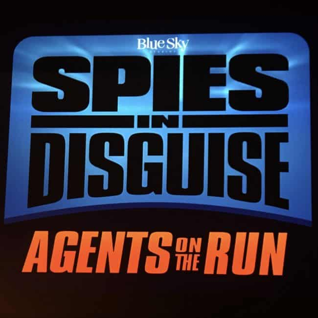 Spies in Disguise agents on the run video game logo