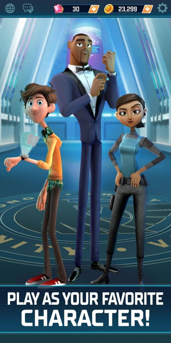 spies in disguise agents on the run mobile video game