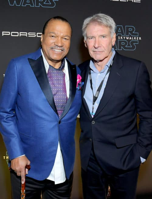 Billy Dee Williams and Harrison Ford Star Wars Rise of Skywalker World Premiere
