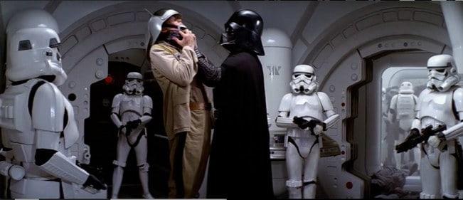 Darth Vader cameo in Rise of Skywalker