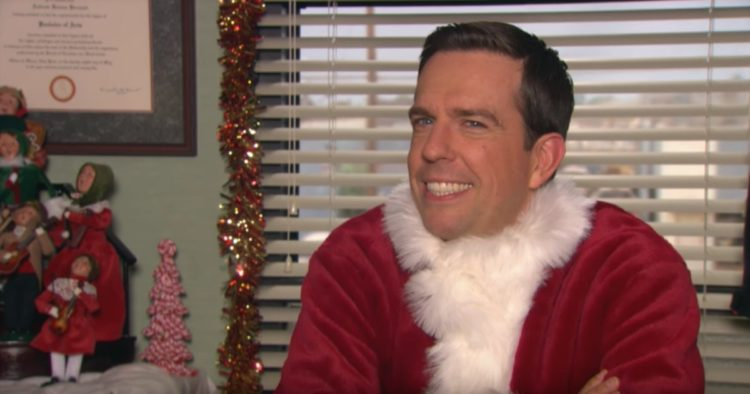 ed helms as Andy from The Office Christmas Episodes