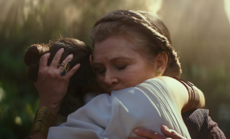 Leia and Rey embrace in Rise of Skywalker safe for kids