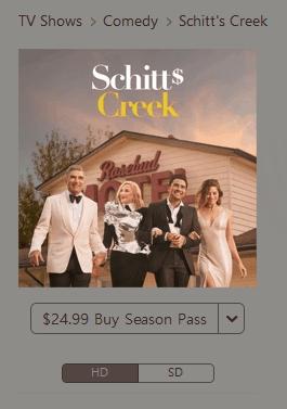 watch schitts creek season 6 on itunes with a season pass