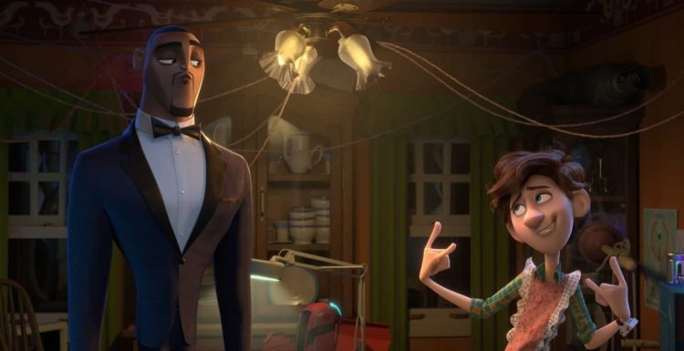 Spies in Disguise lance and walter in walters kitchen