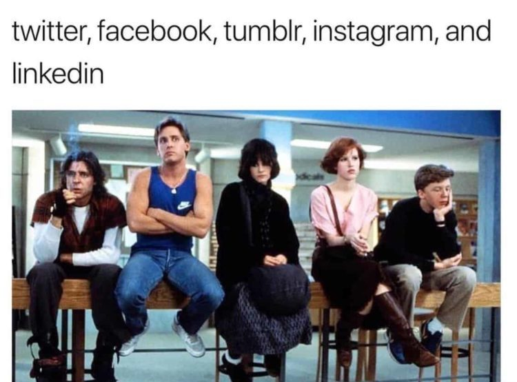 Breakfast Club inspired Dolly Parton Meme