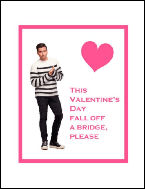David Rose Schitt's Creek Valentine Card Printable PDF