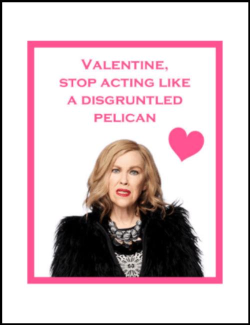 Moira Rose Schitt's Creek Valentine Card Printable PDF