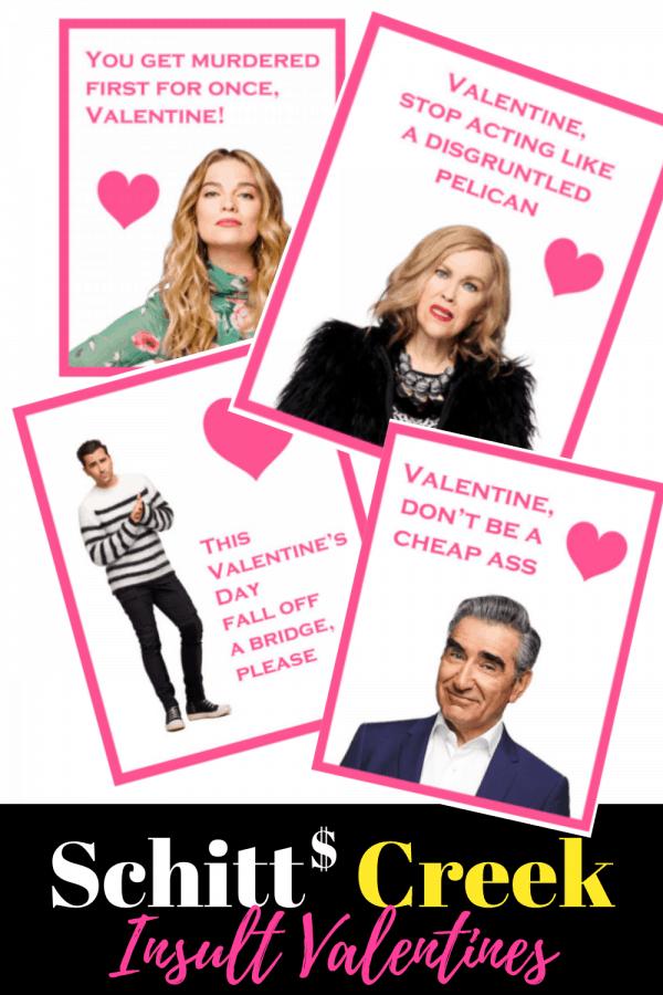 Schitt's Creek Valentines Cards: Insult Valentines for Schitt's Creek fans
