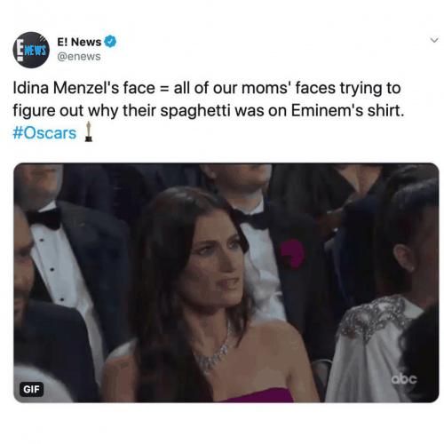 idina menzel oscars 2020 meme reaction