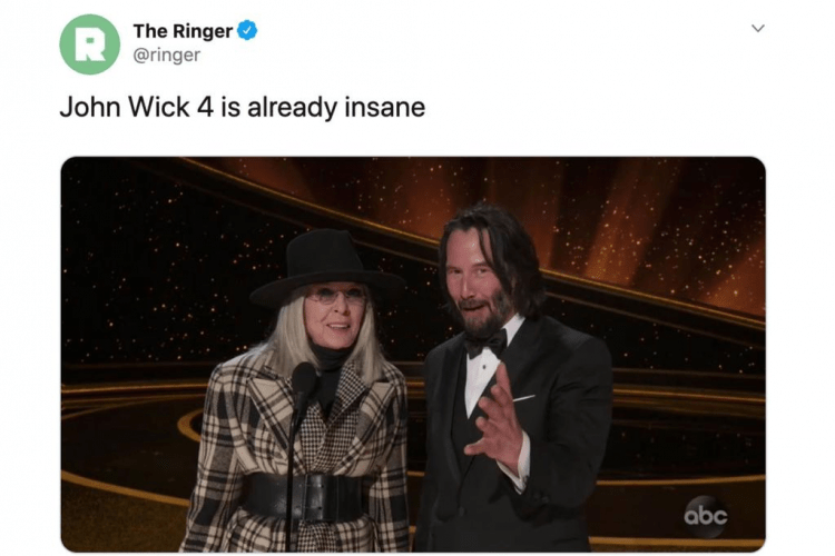 john wick 4 oscars 2020 memes