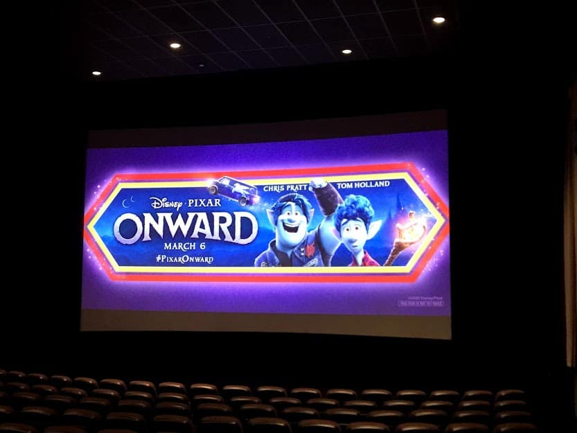 onward movie screen